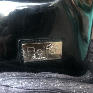 "Beijo Bags - NWOT- Beijo Black Patent Bag W/ Plaid Belt""Buckle"""